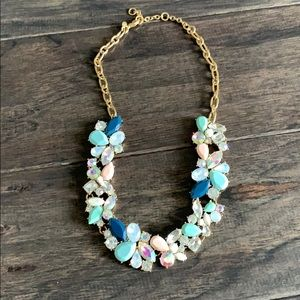 Short j crew flower necklace